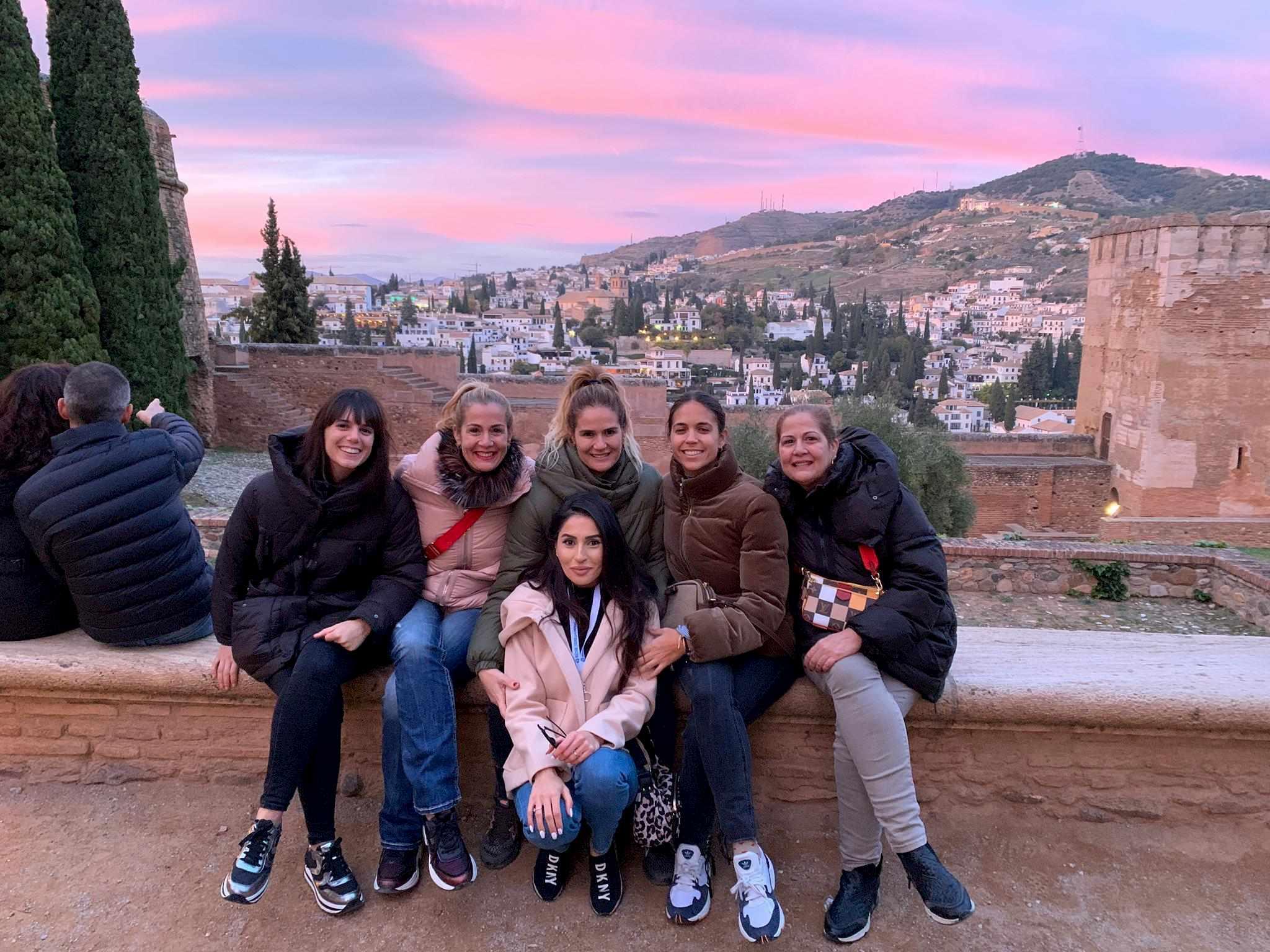 Grupo de visita guiada a la Alhambra