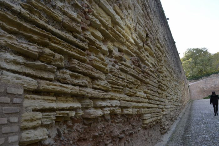 Detalles de la muralla de la Alhambra