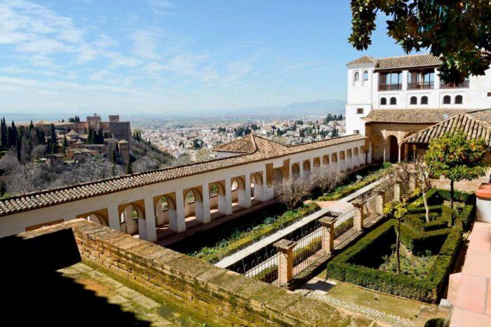 Vistas al Palacio del Generalife
