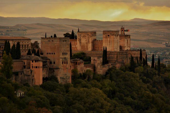 Vistas a la Alhambra desde mirador del Sacromonte