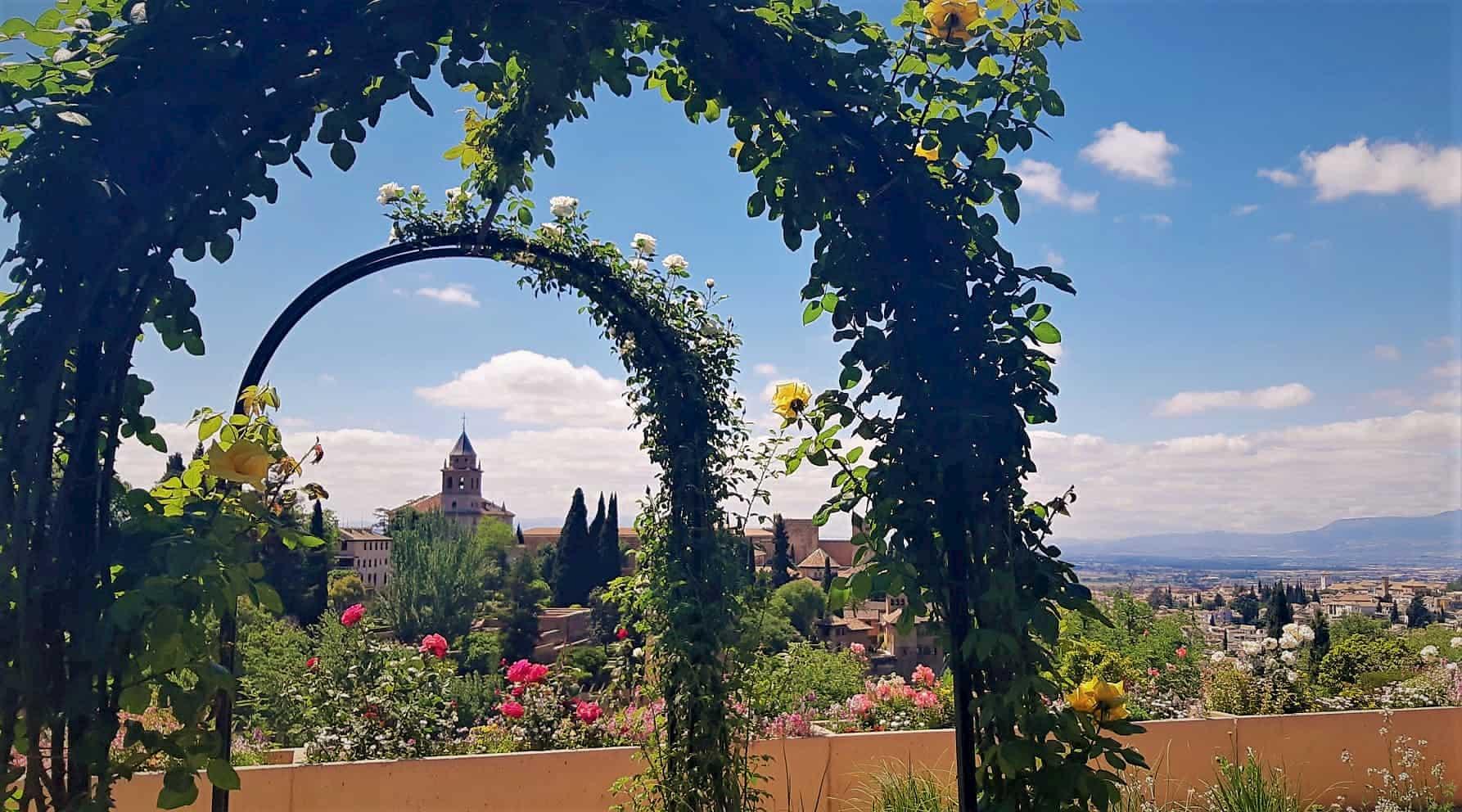 Jardines del Generalife de la Alhambra de Granada