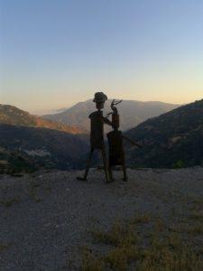 Vistas a las montañas de la Alpujarra de Granada