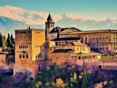 Vistas panorámicas de la Alhambra de Granada